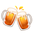 Clinking Beer Mugs on emojidex 1.0.34