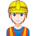 Construction Worker: Light Skin Tone on emojidex 1.0.34