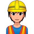 Construction Worker: Medium-Light Skin Tone on emojidex 1.0.34