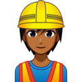 Construction Worker: Medium-Dark Skin Tone on emojidex 1.0.34