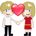 Couple With Heart, Type-1-2 on emojidex 1.0.34