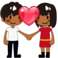 Couple With Heart: Medium-Dark Skin Tone on emojidex 1.0.34