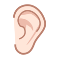Ear: Light Skin Tone on emojidex 1.0.34