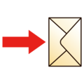 Envelope with Arrow on emojidex 1.0.34