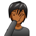 Person Facepalming: Medium-Dark Skin Tone on emojidex 1.0.34
