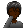 Person Facepalming: Dark Skin Tone on emojidex 1.0.34