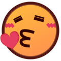 Face Blowing a Kiss on emojidex 1.0.34