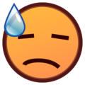 Downcast Face with Sweat on emojidex 1.0.34