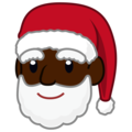 Santa Claus: Dark Skin Tone on emojidex 1.0.34
