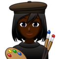 Woman Artist: Dark Skin Tone on emojidex 1.0.34