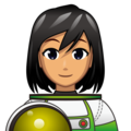 Woman Astronaut: Medium Skin Tone on emojidex 1.0.34