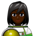 Woman Astronaut: Dark Skin Tone on emojidex 1.0.34