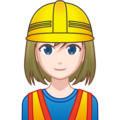 Woman Construction Worker: Light Skin Tone on emojidex 1.0.34