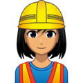Woman Construction Worker: Medium Skin Tone on emojidex 1.0.34
