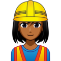 Woman Construction Worker: Medium-Dark Skin Tone on emojidex 1.0.34