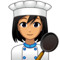 Woman Cook: Medium Skin Tone on emojidex 1.0.34