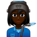 Woman Factory Worker: Dark Skin Tone on emojidex 1.0.34