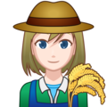 Woman Farmer: Light Skin Tone on emojidex 1.0.34