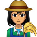 Woman Farmer: Medium Skin Tone on emojidex 1.0.34