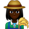 Woman Farmer: Dark Skin Tone on emojidex 1.0.34