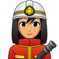 Woman Firefighter: Medium Skin Tone on emojidex 1.0.34