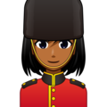 Woman Guard: Medium-Dark Skin Tone on emojidex 1.0.34