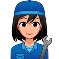 Woman Mechanic: Medium-Light Skin Tone on emojidex 1.0.34