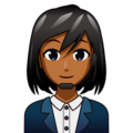 Woman Office Worker: Medium-Dark Skin Tone on emojidex 1.0.34
