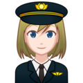 Woman Pilot: Light Skin Tone on emojidex 1.0.34