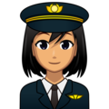 Woman Pilot: Medium Skin Tone on emojidex 1.0.34
