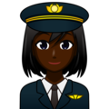 Woman Pilot: Dark Skin Tone on emojidex 1.0.34