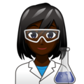 Woman Scientist: Dark Skin Tone on emojidex 1.0.34