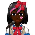 Woman Singer: Dark Skin Tone on emojidex 1.0.34
