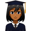 Woman Student: Medium-Dark Skin Tone on emojidex 1.0.34