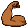 Flexed Biceps: Medium-Dark Skin Tone on emojidex 1.0.34