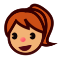 Girl: Medium Skin Tone on emojidex 1.0.34