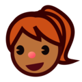 Girl: Medium-Dark Skin Tone on emojidex 1.0.34