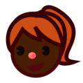 Girl: Dark Skin Tone on emojidex 1.0.34
