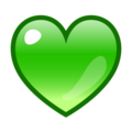 Green Heart on emojidex 1.0.34