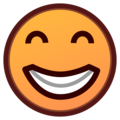 Beaming Face with Smiling Eyes on emojidex 1.0.34