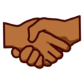 Handshake: Medium-Dark Skin Tone on emojidex 1.0.34