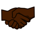 Handshake: Dark Skin Tone on emojidex 1.0.34