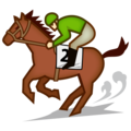 Horse Racing: Medium-Light Skin Tone on emojidex 1.0.34