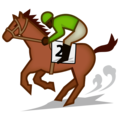 Horse Racing: Dark Skin Tone on emojidex 1.0.34