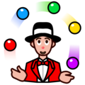 Person Juggling: Medium-Light Skin Tone on emojidex 1.0.34