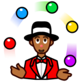 Person Juggling: Medium-Dark Skin Tone on emojidex 1.0.34