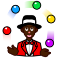 Person Juggling: Dark Skin Tone on emojidex 1.0.34