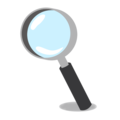 Magnifying Glass Tilted Left on emojidex 1.0.34