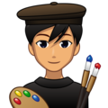 Man Artist: Medium Skin Tone on emojidex 1.0.34