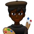 Man Artist: Dark Skin Tone on emojidex 1.0.34